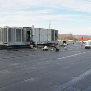 Rooftop HVAC Installation at Barnstable Academy